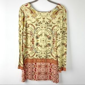 UO Some Days Lovin Floral Boho Tunic Size XS